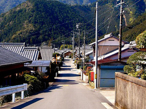 熊野古道伊勢路の紀北町中里周辺
