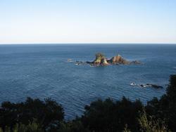 紀北町島勝浦の大敷魚見小屋からの眺め