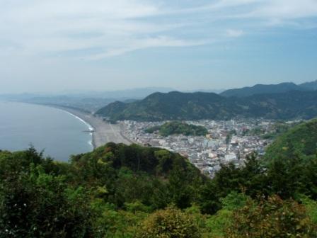 熊野古道伊勢路・松本峠から眺める七里御浜