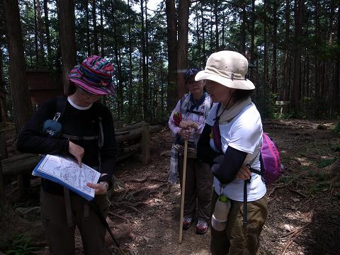 熊野古道伊勢路・馬越峠にてガイド内山裕紀子とツアー参加女性