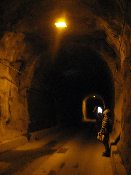 坂下隧道内部