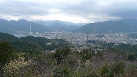 熊野古道伊勢路・馬越公園から尾鷲市眺望