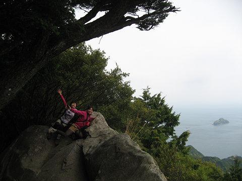 天狗倉山の山頂にて女子旅2人