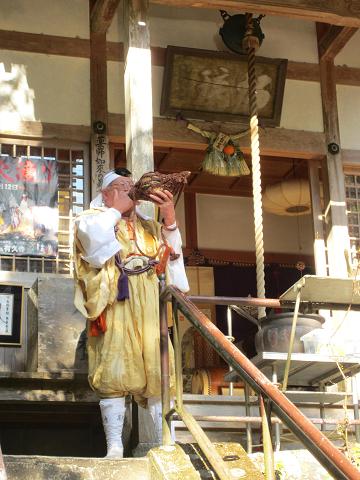 紀伊半島みる観る探検隊にて、修験者の有久寺住職