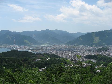 熊野古道伊勢路・馬越公園展望台から眺める尾鷲市