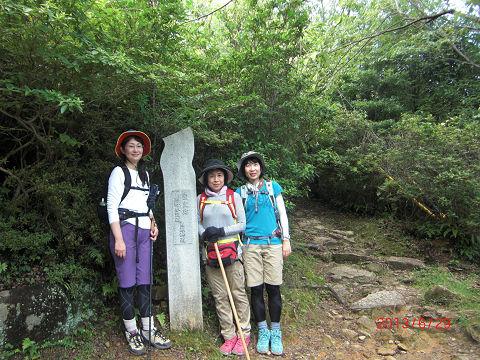 熊野古道伊勢路馬越峠にて
