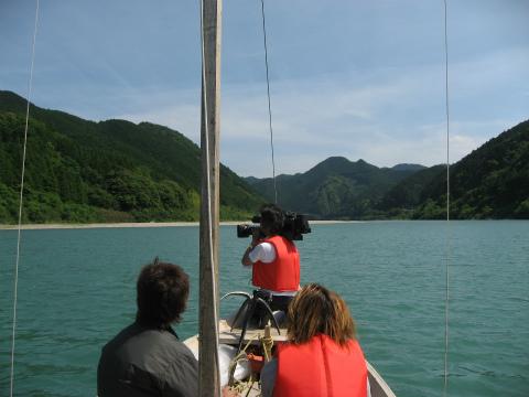 熊野川の三反帆から撮影