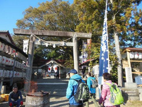 木本神社にて