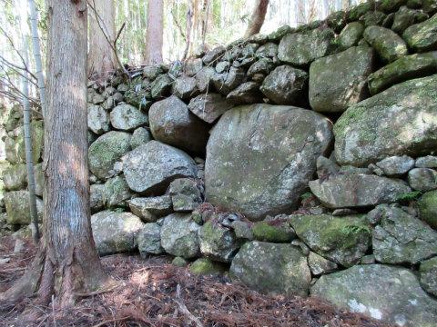 熊野古道伊勢路・松本峠近くの棚田跡や畑跡の石垣
