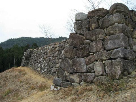熊野市紀和町の赤木城跡の石垣