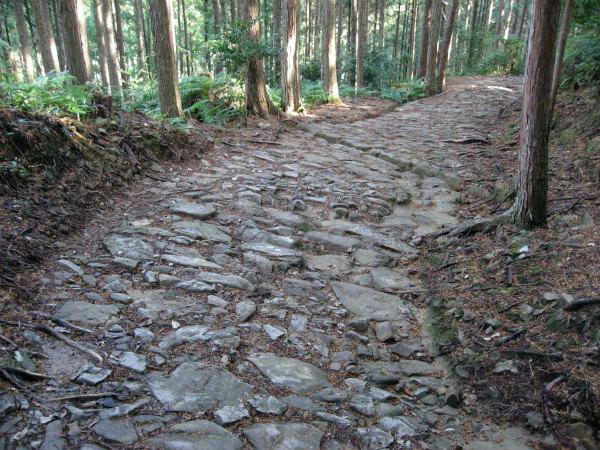 熊野古道中辺路の石畳道