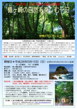 第46回 紀伊半島みる観る探検隊「楯ヶ崎の自然を楽しむ一日」チラシ