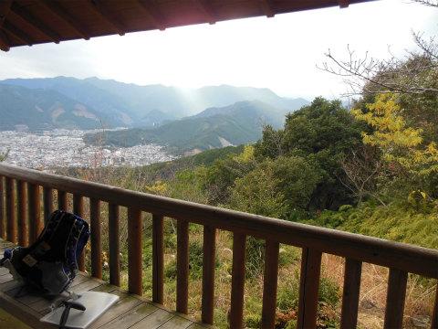 熊野古道伊勢路・馬越峠の展望台からの眺め
