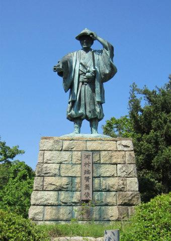 河村瑞賢銅像