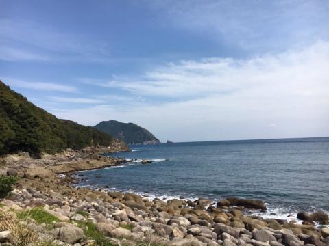熊野市波田須町の海岸
