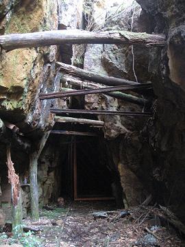 熊野市紀和町の紀州鉱山大谷抗