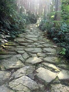 熊野古道 馬越峠の石畳道