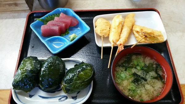 紀伊勝浦 二代目 めはり寿司定食