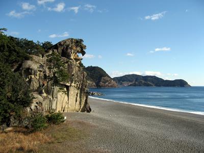 獅子岩と七里御浜