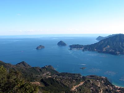 天狗倉山の山頂から熊野灘の眺め
